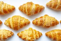 Croissants. Buttery, flaky, viennoiserie pastry of Austrian origin, but mostly associated with France.