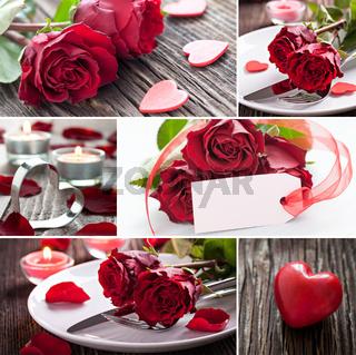 Valentinstag Collage