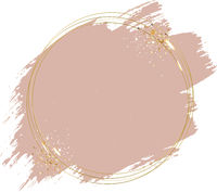 Pink Paint With Golden Frame Ball White Background