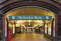 Entrance to the Hackescher Markt S-Bahn station, Berlin, Germany, Europe