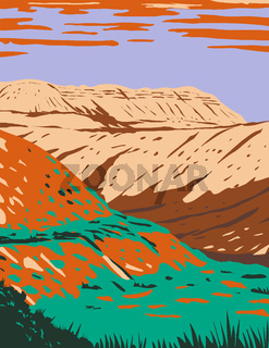 Fossil Butte National Monument Located West of Kemmerer Wyoming WPA Poster Art