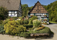 The beautiful Fresenhof with its cottage garden in the Titmaringhausen district of Medebach, Germany
