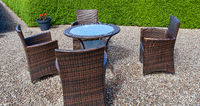 Garden dining table with chairs