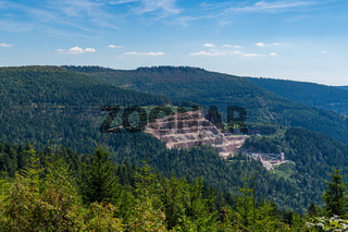 View over The Black Forest near Mummelsee, Baden-Wuerttemberg, Germany