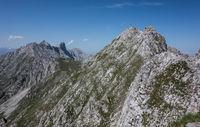 Mountain range in Tyrol Ausria