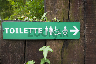 Sign toilette men women kids and disabled
