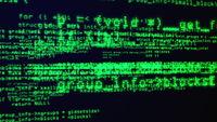 Programming code through the computer screen terminal