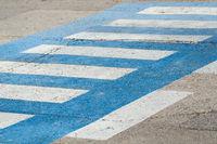 zebra crossing on a street in the town of Krk in Croatia