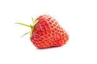 Whole ripe red strawberry