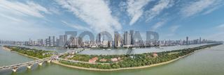 beautiful changsha cityscape panorama