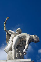 Iris leads fallen hero to Olympus. Statue on the Unter den Linden Bridge in Berlin, Germany