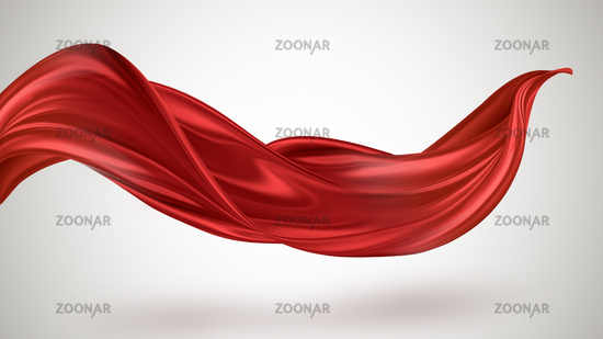 Red flying fabric