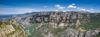 Panorama of the Verdon Canyon