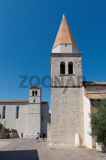 Die Kirche unserer lieben Frau der Gesundheit in Krk in Kroatien