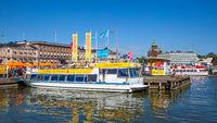 City sightseeing boats in Helsinki