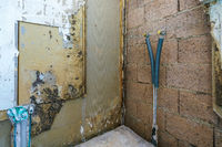 Reconstruction of a bathroom with bare walls