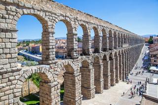 Ancient roman aqueduct in Segovia
