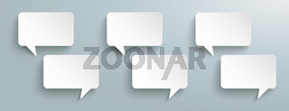 Rectangle Paper Speech Bubbles Kommunication Header