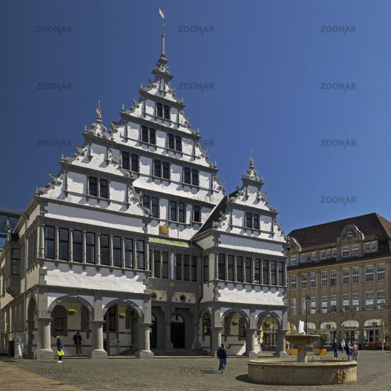 Town hall in the style of the Weser Renaissance, Paderborn, North Rhine-Westphalia, Germany, Europe