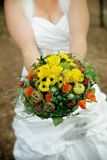 Woman with a Wedding Bouquet