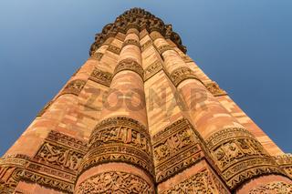 Qutb Minar in Delhi. 13th / 14th AD, India.