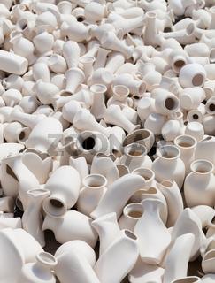 earthen clay vases