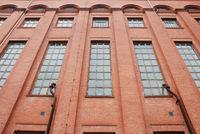Facade of an old factory building.