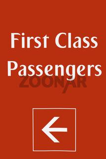 First class sign board