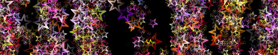 Fantastic Christmas panorama design with glowing stars