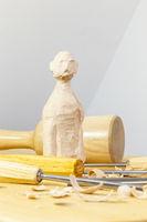wooden sculpting