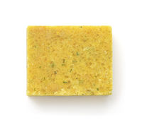 Top view of chicken bouillon stock cube