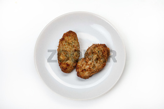 Plate With Cutlets