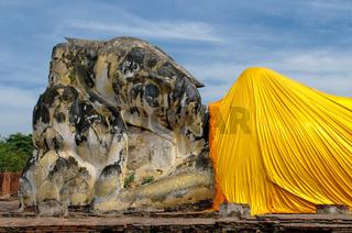 Reclining Buddha at Wat Lokayasutharam, Ayutthaya