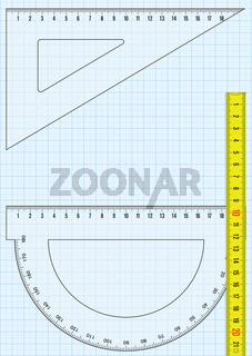 Milimeterpapier Zollstock.eps