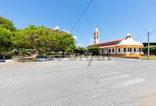 Panama Alanje, Santiago Apostle parish and public gardens