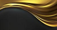 Bright golden wave