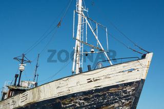 Altes verlassenes Fischerboot
