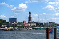 Hamburg, Sandtor Harbor, Kaiserkai, Water boat, Germany