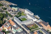 Aerial view of Maersk Head Office in Copenhagen