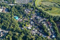 Aerial View of Bakken Amusement Park in Copenhagen
