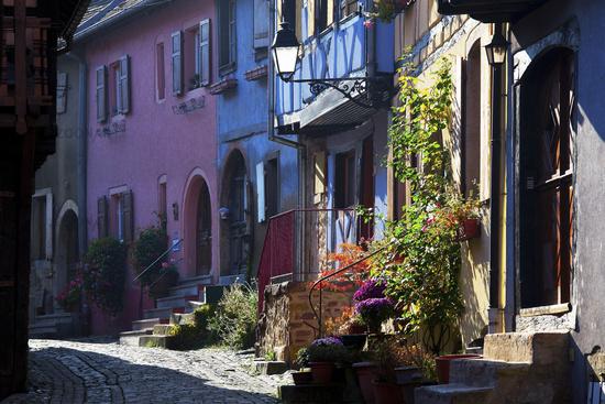 alley lane, Eguisheim, Alsace, France