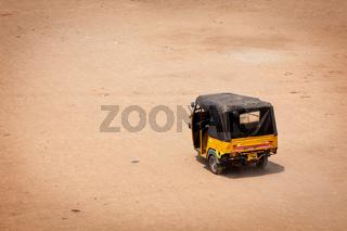 Indian auto (autorickshaw) in the street. India