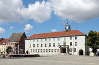 Market place and town hall of Anklam