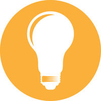 simple round light bulb icon