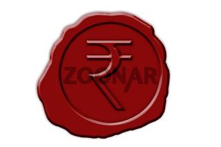 Siegel Indische Rupie   seal indian rupees