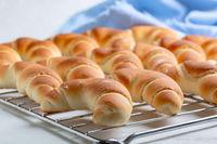 Homemade crescent-shaped buns.