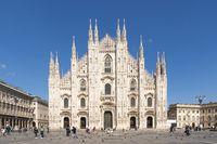 Milan cathedral Duomo at sunny day