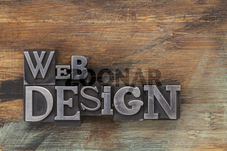 web design in metal type blocks