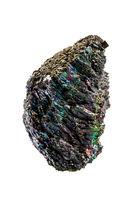 Carborundum rock on a white background
