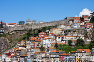 Old Hillside Houses of Porto in Portugal